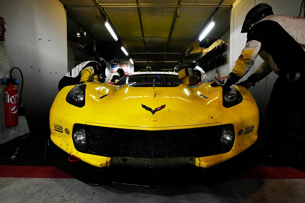 #63 Corvette Racing Chevrolet Corvette C7.R: Jan Magnussen, Antonio Garcia, Mike Rockenfeller<br /> Thursday 14 June 2018<br /> 24 Hours of Le Mans<br /> 2018 24 Hours of Le Mans<br /> Circuit de la Sarthe  FR<br /> World Copyright: Scott R LePage