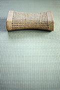Asian style cooling Bamboo head cushion on a tatami floor