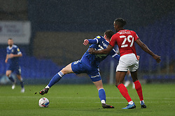 Oliver Hawkins of Ipswich Town and Omar Beckles of Crewe Alexandra tussle for the ball - Mandatory by-line: Arron Gent/JMP - 31/10/2020 - FOOTBALL - Portman Road - Ipswich, England - Ipswich Town v Crewe Alexandra - Sky Bet League One