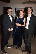 IWONA BLAZWICK, OBE; VADIM GRIGORIAN  Whitechapel Gallery Art Icon Gala, supported by the Swarovski Foundation, Honoring the lifetime achievement of Joan Jonas. Christ Church Spitafields. London.