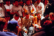 Drum circle at Schemitzun Powwow in North Stonington, Connecticut, on the Mashantucket Pequot reservation in 1996.
