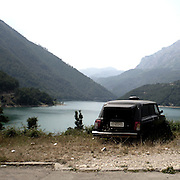 "a car for the dead abandoned on a mountain.There are several arguments about the derivation of the name  ""Montenegro"", one of these relates to dark and deep forests  that once covered the Dinaric Alps, as it was possible to see them from the sea. <br />