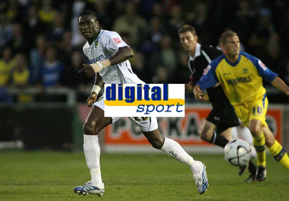 Photo: Rich Eaton.<br /> <br /> Torquay United v Norwich City. Carling Cup. 23/08/2006. Dickson Etuhu, of Norwich City, scorer of his teams second goal