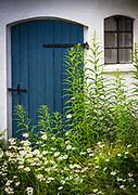 Door on rural building at Backagården's Cafe in the south of Sweden (Skåne)