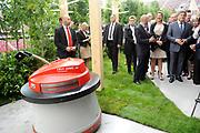 """Staatsbezoek van Koning Willem Alexander Koningin Máxima aan de Republiek Polen.<br /> <br /> State visit of King Willem Alexander Queen Máxima of the Republic of Poland.<br /> <br /> Op de foto / On the photo: <br /> <br />  Koning Willem Alexander en Koningin Maxima zijn aanwezig bij de conferentie """"Innovation: solutions for a common future"""" in het Nationaal Stadion.<br /> <br /> King Willem Alexandder and Queen Maxima attend the conference """"Innovation: solutions for a common future"""" in the  National Stadion."""