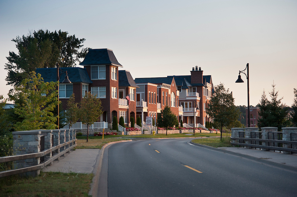 The Founders Lannding development along the Lake Superior waterfront of Marquette, Michigan.