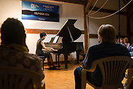 Jeffersonville, New York - The Weekend of Chamber Music held a concert at the Eddie Adams Barn on July 30, 2017. The concert featured Nurit Pacht and Andrew Waggoner on violin, Caroline Stinson on cello, Gloria Cheng on piano and Jesse Jones on mandolin.