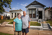 Bob and Donna Shepperson, owner of one of the Portland neighborhood homes rehabbed by the city under it's new Portland Pride program, photographed Friday, Aug. 23, 2013 in Louisville, Ky. (Photo by Brian Bohannon/www.brianbohannon.com)