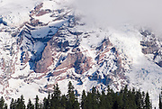 Glacier detail on Mount Rainier, Mount Rainier National Park, Washington USA