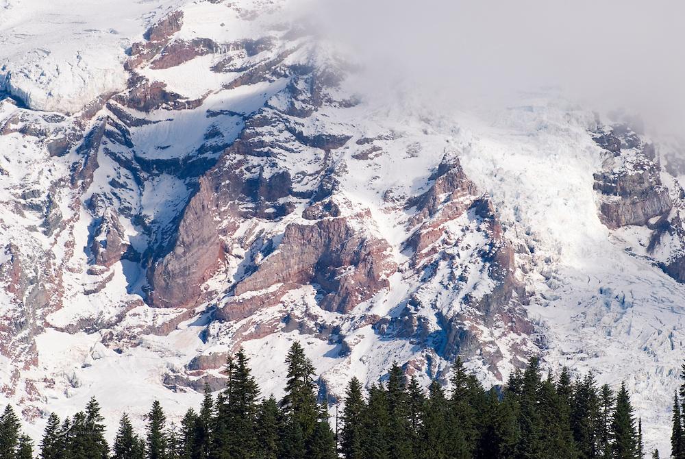 Glacier detail on Mount Rainier, Mount Rainier National Park, Washington USA