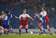Brighton and Hove Albion Women's midfielder Kate Natkiel during the FA Women's Premier League match between Brighton Ladies and Charlton Athletic WFC at the American Express Community Stadium, Brighton and Hove, England on 6 December 2015.