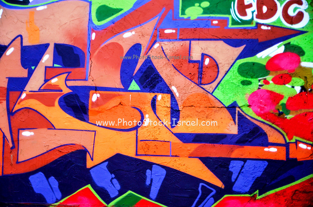 Colorful Abstract street art