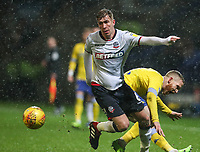 Bolton Wanderers' Josh Vela competing with Leeds United's Adam Forshaw<br /> <br /> Photographer Andrew Kearns/CameraSport<br /> <br /> The EFL Sky Bet Championship - Bolton Wanderers v Leeds United - Saturday 15th December 2018 - University of Bolton Stadium - Bolton<br /> <br /> World Copyright © 2018 CameraSport. All rights reserved. 43 Linden Ave. Countesthorpe. Leicester. England. LE8 5PG - Tel: +44 (0) 116 277 4147 - admin@camerasport.com - www.camerasport.com
