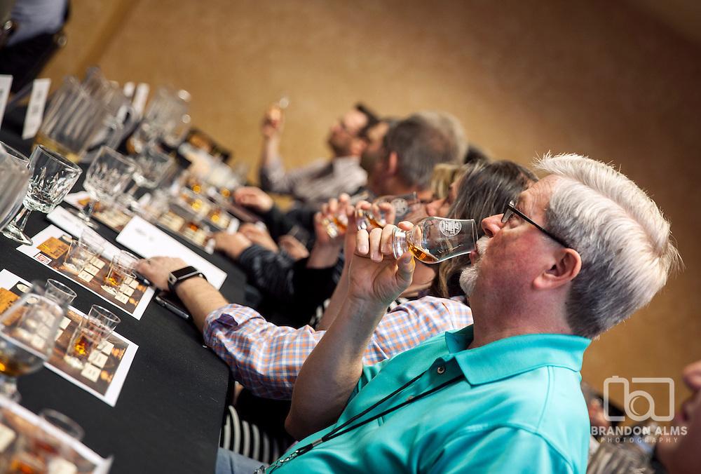 Whiskey tasting at 417 Magazine's 2015 Whiskey Fest.