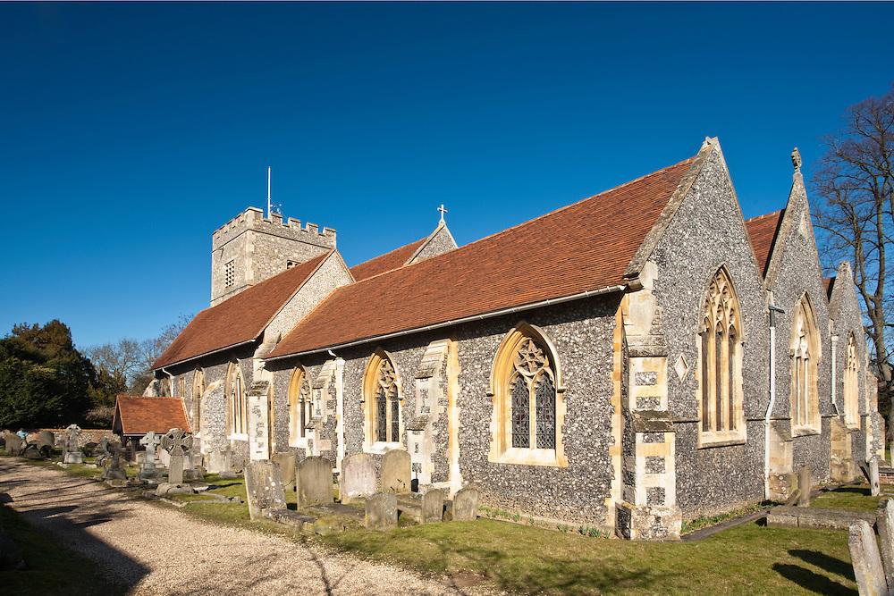 St Andrew's Church in Sonning on Thames, Berkshire, Uk