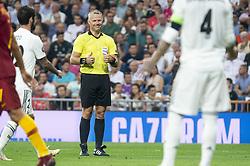 September 19, 2018 - Madrid, Spain - Referee Bjorn Kuipers during UEFA Champions League match between Real Madrid and A.S.Roma at Santiago Bernabeu Stadium in Madrid, Spain. September 19, 2018. (Credit Image: © Coolmedia/NurPhoto/ZUMA Press)