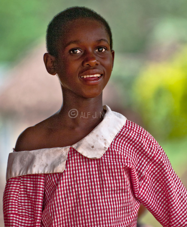 Beautiful girl from Bwindi, Uganda.
