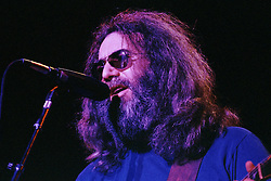 Jerry Garcia with The Grateful Dead at Shea's Buffalo Theater on 20 January 1979. Tight shot of the Guitarist and Lead Singer. The Buffalo Theater is now part of Shea's Performing Arts Center.