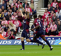 Photo: Greig Cowie, Digitalsport<br />27/09/2003.<br />FA Barclaycard Premiership. Southampton v Middlesbrough, The St Marys Stadium.<br />Malcolm CHristie celebrates