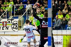 18.03.2018, BSFZ Suedstadt, Maria Enzersdorf, AUT, HLA, SG INSIGNIS Handball WESTWIEN vs HC FIVERS WAT Margareten, Bonus-Runde, 6. Runde, im Bild Gabor Hajdu (SG INSIGNIS Handball WESTWIEN) // during Handball League Austria, Bonus-Runde, 6 th round match between SG INSIGNIS Handball WESTWIEN and HC FIVERS WAT Margareten at the BSFZ Suedstadt, Maria Enzersdorf, Austria on 2018/03/18, EXPA Pictures © 2018, PhotoCredit: EXPA/ Sebastian Pucher