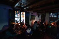 """One evening in the café """"Pequeña Santa Fe"""""""
