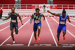 American Track League<br /> ESPN Indoor #2 track and field meet<br /> men 60m, Bacon Bracy, Eaddy