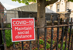© Licensed to London News Pictures; 15/09/2020; Bristol, UK. A Covid-19 Walk-through Testing Site in the Bristol Victoria Rooms Car Park. Amid reports of a national shortage in the covid-19 coronavirus pandemic testing system Bristol City Council has said that ongoing problems with a shortage of available coronavirus tests in the Bristol area will take weeks to resolve. There are unconfirmed reports that last week there were no tests happening at the Victoria Rooms site. NHS Providers have said that hospitals in Bristol raised concerns over staff absences because of the lack of testing. In some parts of the UK people are being asked to drive hundreds of miles for a test despite sites being available closer to them. Bristol recently recorded the biggest daily increase in 10 weeks of new cases of coronavirus, and nationally there was the highest rise for four months. Photo credit: Simon Chapman/LNP.