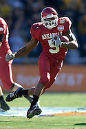 January 1, 2008 - Dallas, TX...Running back Darren McFadden #5 of the Arkansas Razorbacks rushes up field in the first quarter against the Missouri Tigers, during the 72nd AT&T Cotton Bowl Classic at the Cotton Bowl in Dallas, Texas on January 1, 2008...The Tigers defeated the Razorbacks 38-7.  .Peter G. Aiken/CSM.