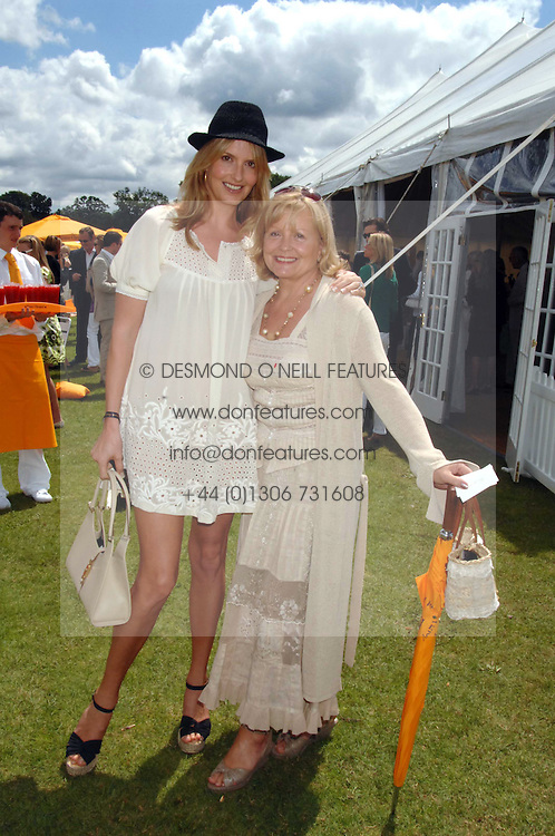 Left to right, PENNY LANCASTER wife of singer Rod Stewart and her mother SALLY LANCASTER at the final of the Veuve Clicquot Gold Cup 2007 at Cowdray Park, West Sussex on 22nd July 2007.<br /><br />NON EXCLUSIVE - WORLD RIGHTS