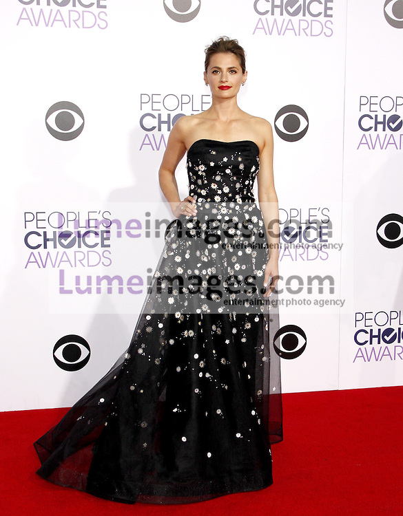 Stana Katic at the 41st Annual People's Choice Awards held at the Nokia L.A. Live Theatre in Los Angeles on January 7, 2015. Credit: Lumeimages.com