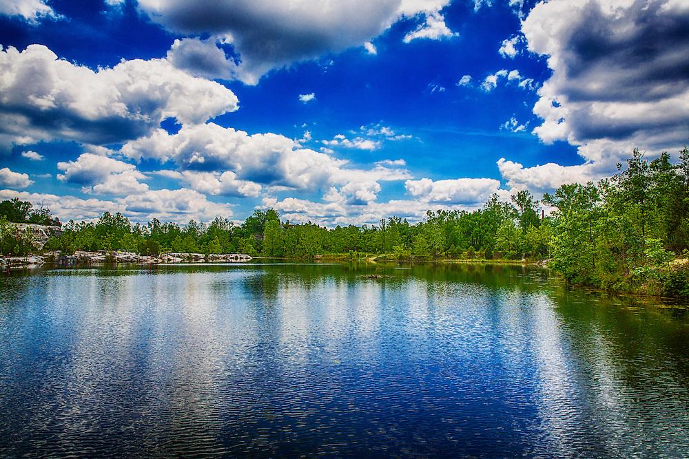 The onset of spring brings vibrant blue skies and waters around Klondike Park