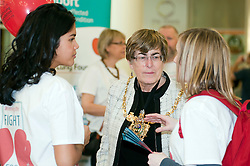 """Lord Mayor of Sheffield Councillor Dr Sylvia Dunkley at the launch of the """"Winning The Fight For Breath  with COPD Campaign"""" in Meadowhall Shopping Centre Sheffield on Saturday 18th February 2012..www.pauldaviddrabble.co.uk..18th February 2012 -  Image © Paul David Drabble"""