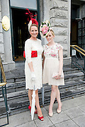Paula Gannon, Athlone and Sarah Scanlon, Athlone at the Most Stylish Lady event at Hotel Meyrick on ladies day of The Galway Races. Photo:Andrew Downes