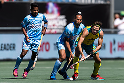 (L-R) Sardar Singh of India, Flynn Ogilvie of Australia during the Champions Trophy finale between the Australia and India on the fields of BH&BC Breda on Juli 1, 2018 in Breda, the Netherlands.