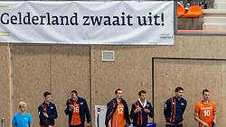 08-09-2018 NED: Netherlands - Argentina, Ede<br /> Second match of Gelderland Cup / Just Dronkers #19 of Netherlands, Wouter ter Maat #16 of Netherlands, .Tim Smit #12 of Netherlands, Wessel Keemink #2 of Netherlands, Thomas Koelewijn #15 of Netherlands, Jeroen Rauwerdink #10 of Netherlands