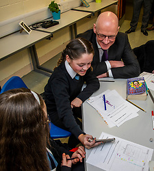 Pictured: John Swinney was not about to avoid a selfie opportunity<br /> <br /> Education Secretary, John Swinney, MSP, addressed more than 100 teachers and education leaders, as he provided an update on the terms of reference for a review of the curriculum, in a speech marking five years of the Scottish Attainment Challenge.<br /> <br /> Ger Harley | EEm 26 February 2020