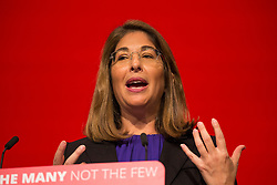 26/09/2017. Brighton, UK. Canadian author, social activist, and filmmaker NAOMI KLEIN  speaks on the third day of the 2017 Labour Party Conference in Brighton. Photo credit: Hugo Michiels/LNP