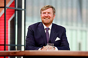 EINDHOVEN, 27-04-2021, High Tech Campus<br /> <br /> Koning Willem-Alexander tijdens Koningsdag 2021 op de High Tech Campus in Eindhoven Foto: Brunopress/POOL/Koen van Weel<br /> <br /> King Willem-Alexande during King's Day 2021 at Eindhoven
