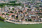 Nederland, Overijssel, Deventer, 17-07-2017; overzicht binnenstad Deventer met o.a. Lebuinuskerk, IJsselkade, Welle.<br /> Overview downtown Deventer, Deventer city centre.<br /> <br /> luchtfoto (toeslag op standard tarieven);<br /> aerial photo (additional fee required);<br /> copyright foto/photo Siebe Swart