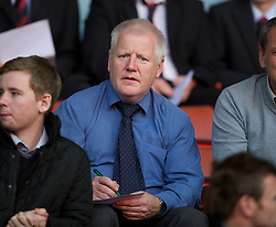 LIVERPOOL, ENGLAND - Wednesday, August 17, 2011: Tranmere Rovers manager Les Parry watches Liverpool's Under-19's take on Sporting Clube de Portugal during the first NextGen Series Group 2 match at Anfield. (Pic by David Rawcliffe/Propaganda)