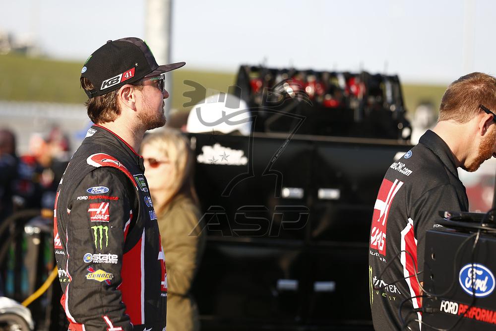 October 20, 2017 - Kansas City, Kansas, USA: Kurt Busch (41) hangs out out on pit road prior to qualifying for the Hollywood Casino 400 at Kansas Speedway in Kansas City, Kansas.