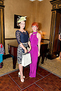 Tara Lavin winner of the most stylish Lady and Mary Maguire BT who was one of the Judges  at the Hotel Meyrick Most Stylish Lady event on ladies day of The Galway Races. Photo:Andrew Downes