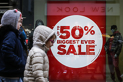 January 3, 2018 - Brussels, Belgium - Official start of the winter sales, Wednesday 03 January 2018 in Brussels. Retail organisations expect the discounts to rise up to -50 percent and more at the start of the sales period.  (Credit Image: © Thierry Roge/Belga via ZUMA Press)