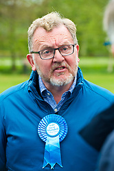 Pictured: David Mundell<br /> <br /> Scottish Tory leader Ruth Davidson and Scottish Secretary David Mundell took to the campaign trail in West Linton today.<br /> <br /> Ger Harley | EEm 13 May 2017