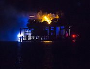 Rig explodes in Lake Pontchartrain