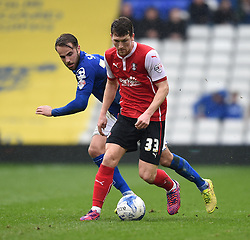 Rotherham United's Richard Smallwood in action during the Sky Bet Championship match between Birmingham City and Rotherham United at St Andrew's Stadium on 3 April 2015 in Birmingham, England - Photo mandatory by-line: Paul Knight/JMP - Mobile: 07966 386802 - 03/04/2015 - SPORT - Football - Birmingham - St Andrew's Stadium - Birmingham City v Rotherham United - Sky Bet Championship