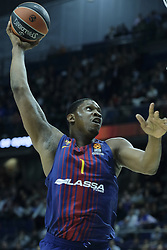 December 14, 2017 - Madrid, Spain - Kevin Sraphinof FC Barcelona Lassa during the 2017/2018 Turkish Airlines Euroleague Regular Season Round 12 game between Real Madrid v FC Barcelona Lassa at Wizink Arena on December 14, 2017 in Madrid, Spain. (Credit Image: © Oscar Gonzalez/NurPhoto via ZUMA Press)