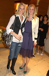 "Left to right, sisters POPPY DELEVINGNE and CHLOE DELEVINGNE  at a party hosted by Christopher Bailey to celebrate the launch of ""The Snippy World of New Yorker Fashion Artist Michael Roberts"" held at Burberry, 21-23 New Bond Street, London on 20th September 2005.<br />