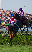 National Hunt Horse Racing - 2017 Randox Grand National Festival - Saturday, Day Three [Grand National Day]<br /> <br /> JW Kennedy on Roi Des Francs  in the lead at the water jump in  the 5.15, the Randox Health Grand National  at Aintree Racecourse.<br /> <br /> COLORSPORT/WINSTON BYNORTH<br /> <br /> <br /> <br /> <br /> <br /> <br /> <br /> <br /> <br /> <br /> National Hunt Horse Racing - 2017 Randox Grand National Festival - Saturday, Day Three [Grand National Day]<br /> <br />  in the 1st race the 1.45 Gaskells Handicap Hurdle at Aintree Racecourse.<br /> <br /> COLORSPORT/WINSTON BYNORTH