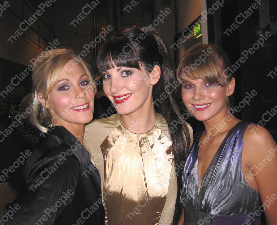 Siobhan McMahon, Martina Costelloe and Diana Gadzane at the Inagh Autism Unit Fashion show.